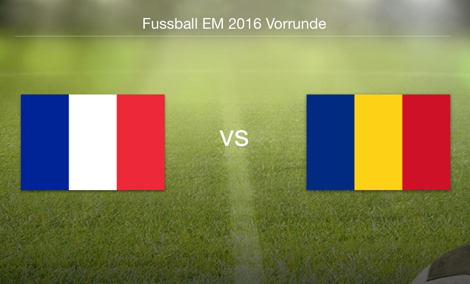 EM 2016 - Frankreich gegen Rumänien