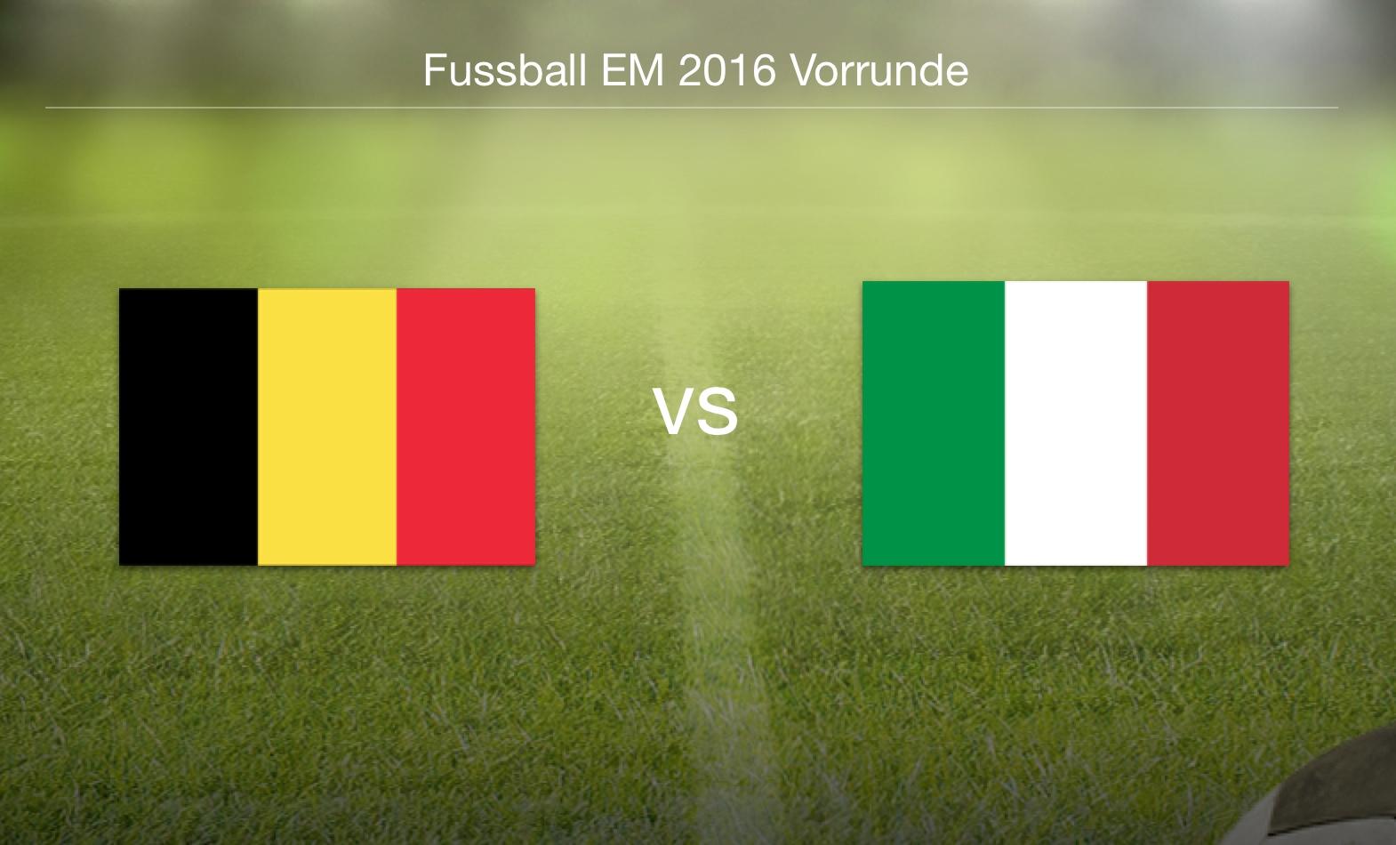 EM 2016 - Belgien gegen Italien