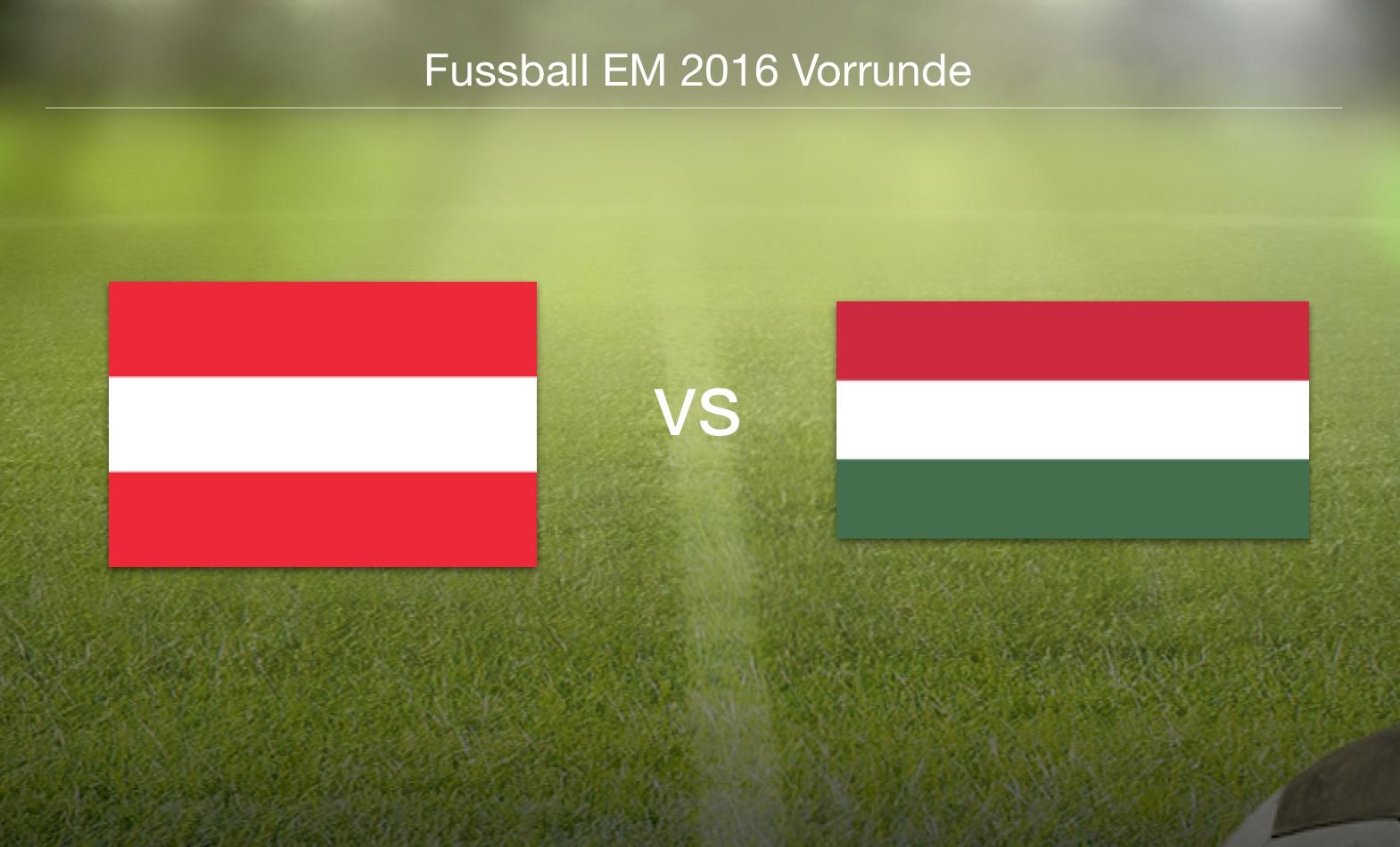 EM 2016 - Österreich gegen Ungarn