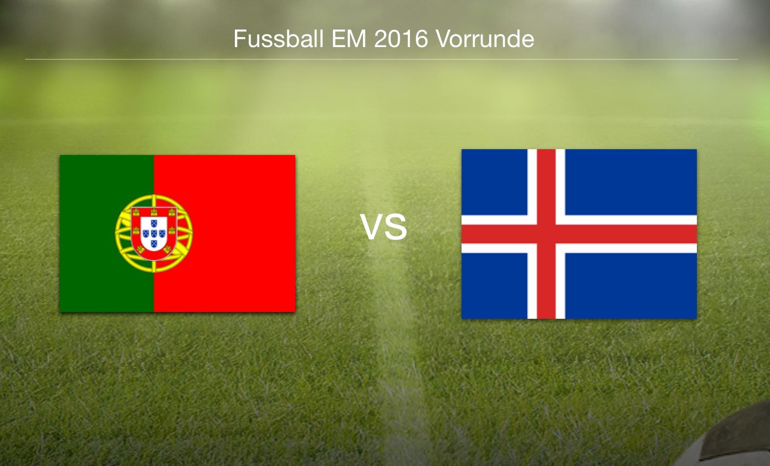 EM 2016 - Portugal gegen Island