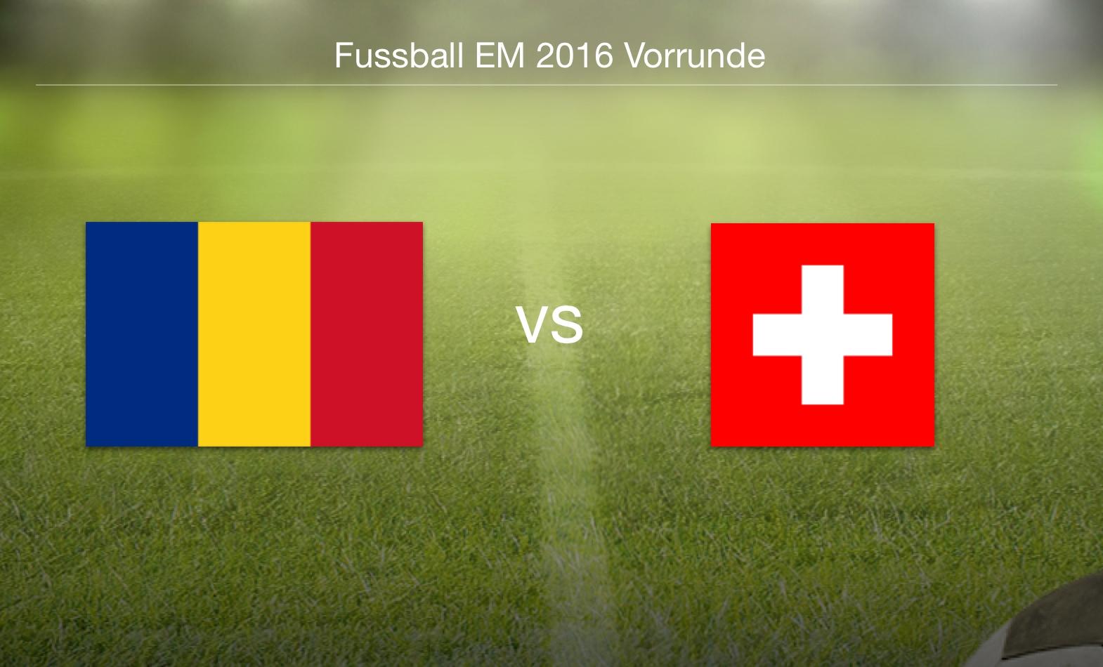 EM 2016 - Rumänien gegen Schweiz