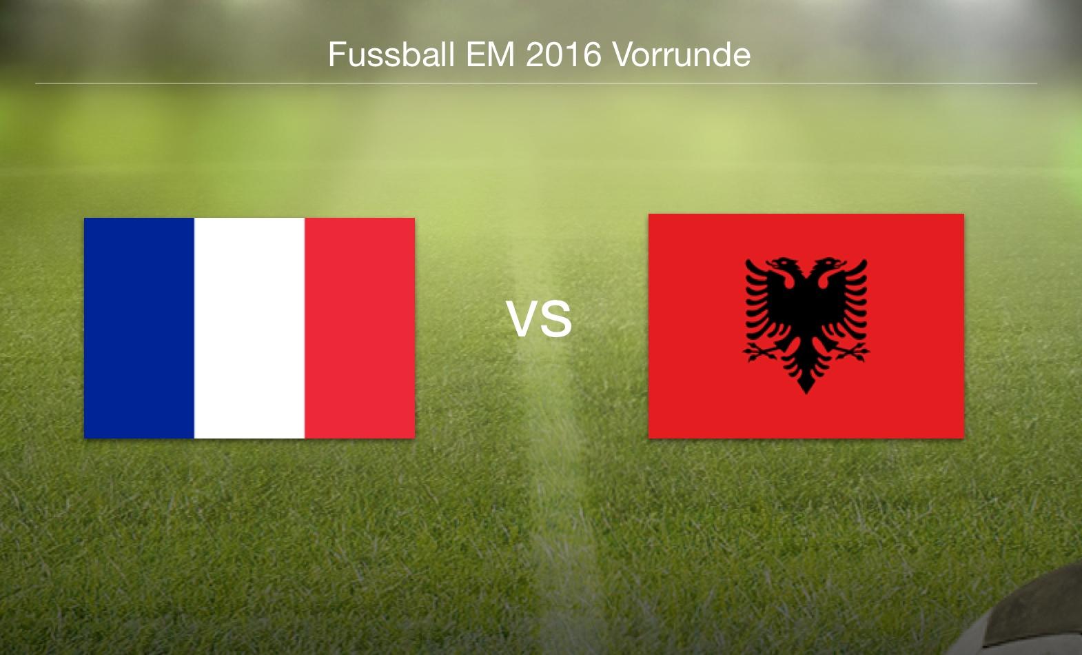 EM 2016 - Frankreich gegen Albanien