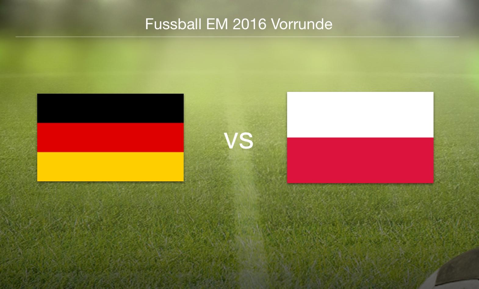 EM 2016 - Deutschland gegen Polen