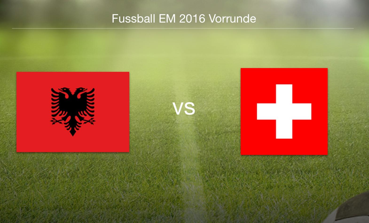 EM 2016 - Albanien gegen Schweiz