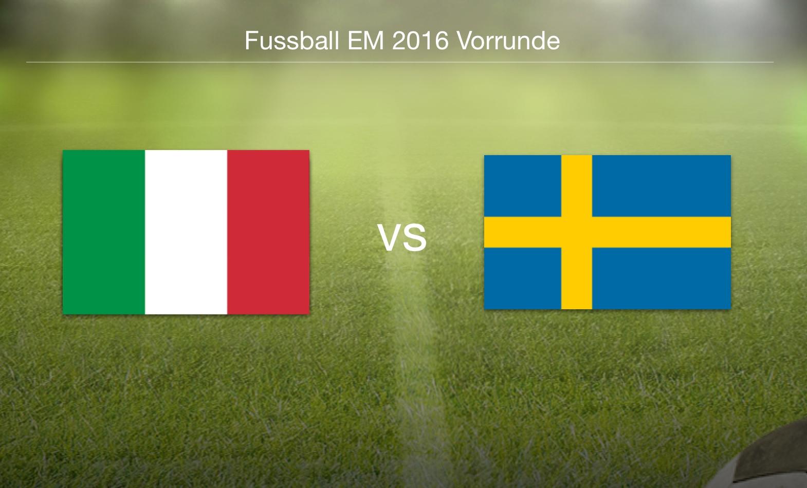 EM 2016 - Italien gegen Schweden