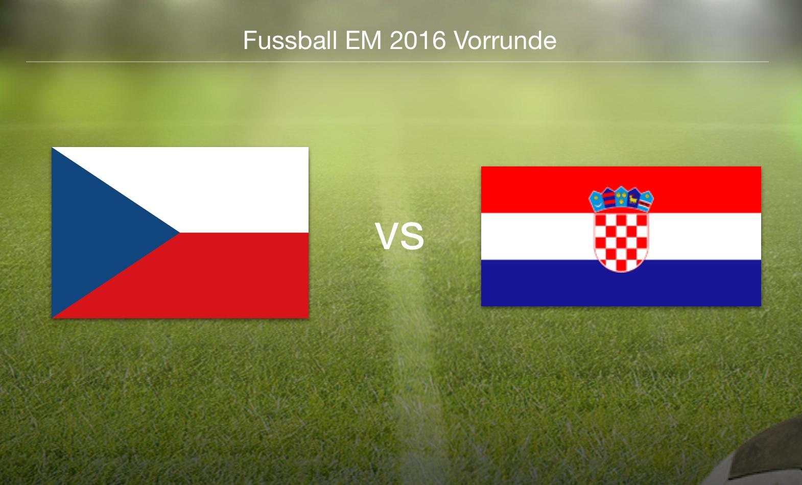 EM 2016 - Tschechien gegen Kroatien