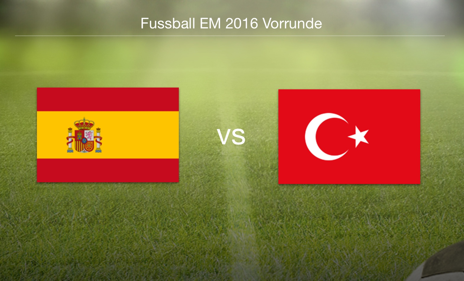 EM 2016- Spanien gegen Türkei