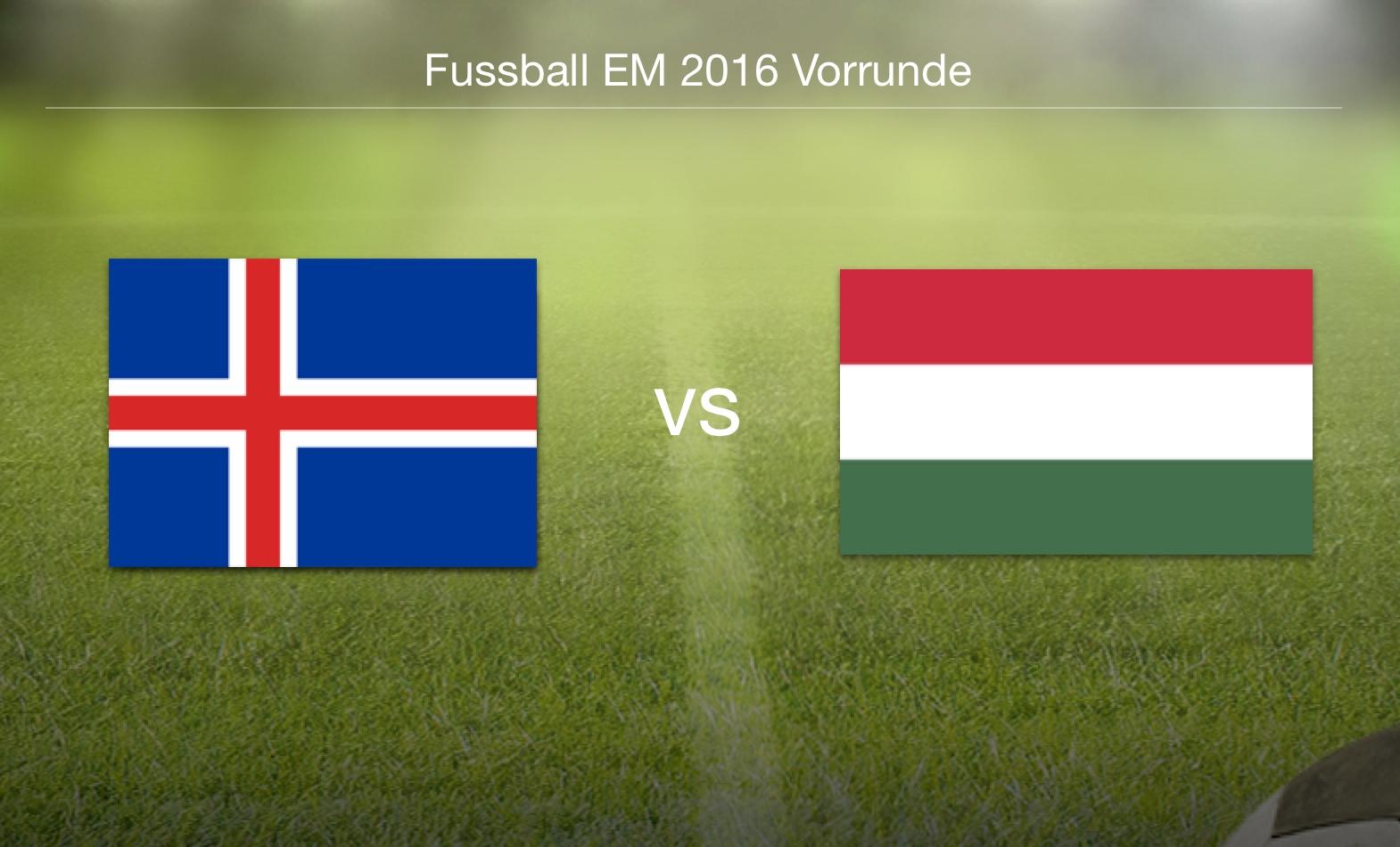 EM 2016 - Island gegen Ungarn
