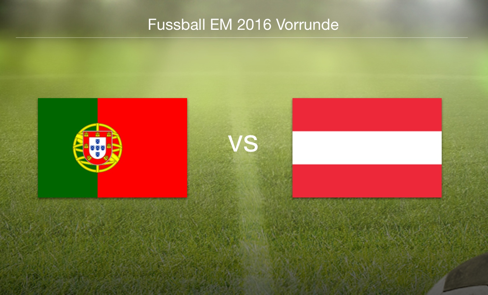 EM 2016 - Portugal gegen Österreich