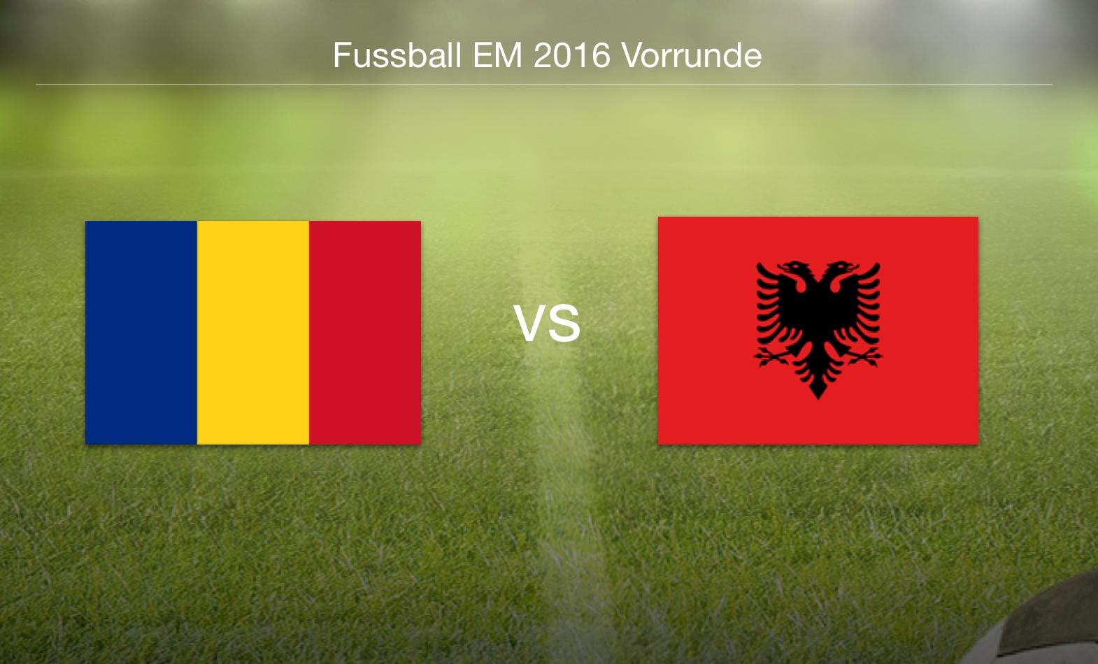 EM 2016 - Rumänien gegen Albanien