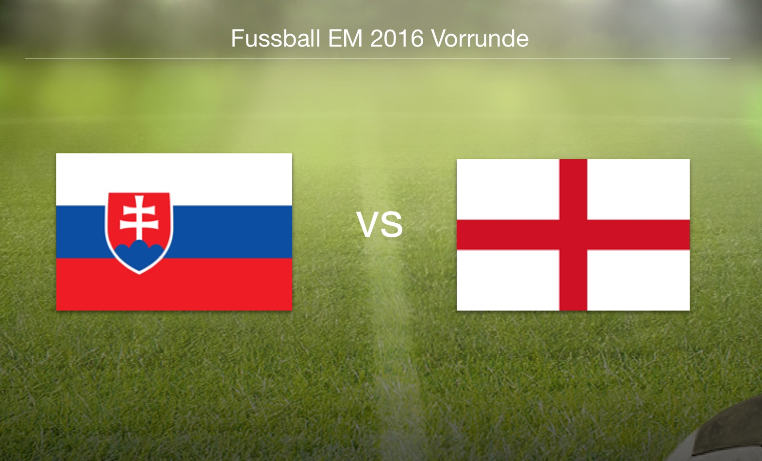EM 2016 - Slowakei gegen England