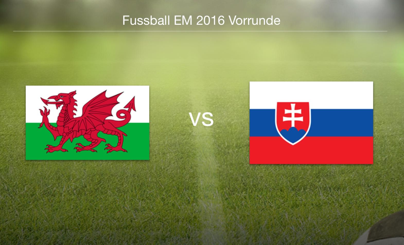EM 2016 - Wales gegen Slowakei