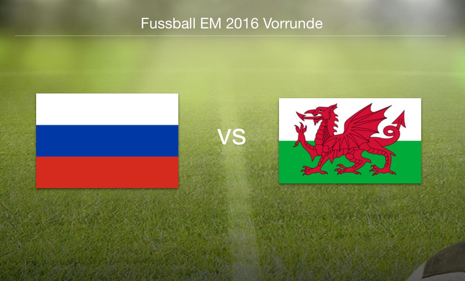 EM 2016 - Russland gegen Wales