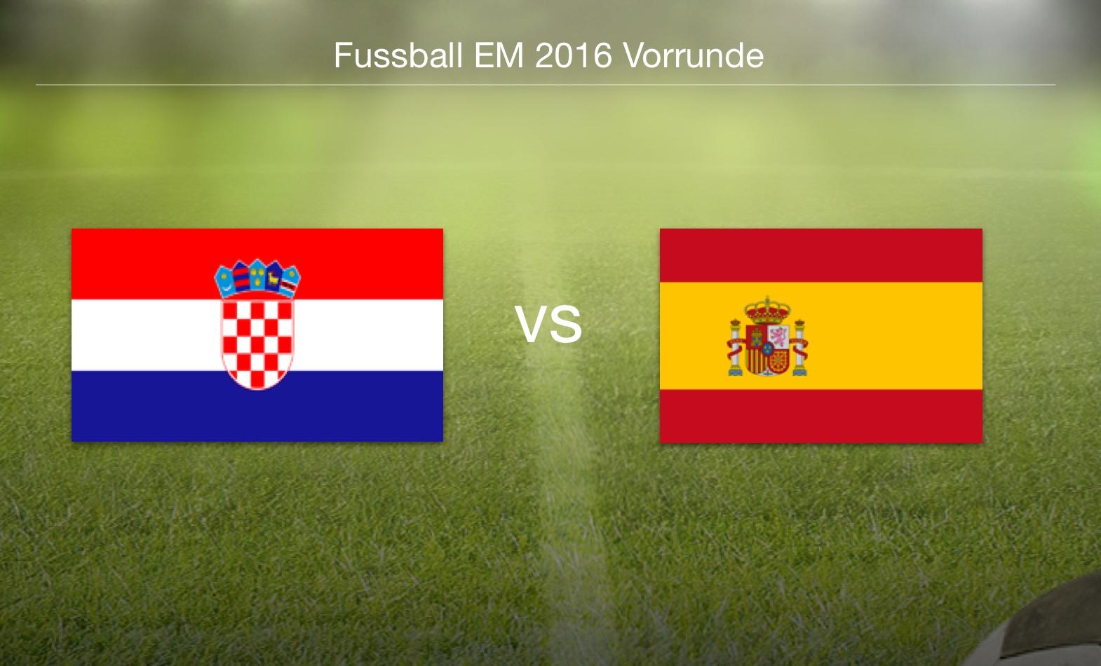 EM 2016 - Kroatien gegen Spanien
