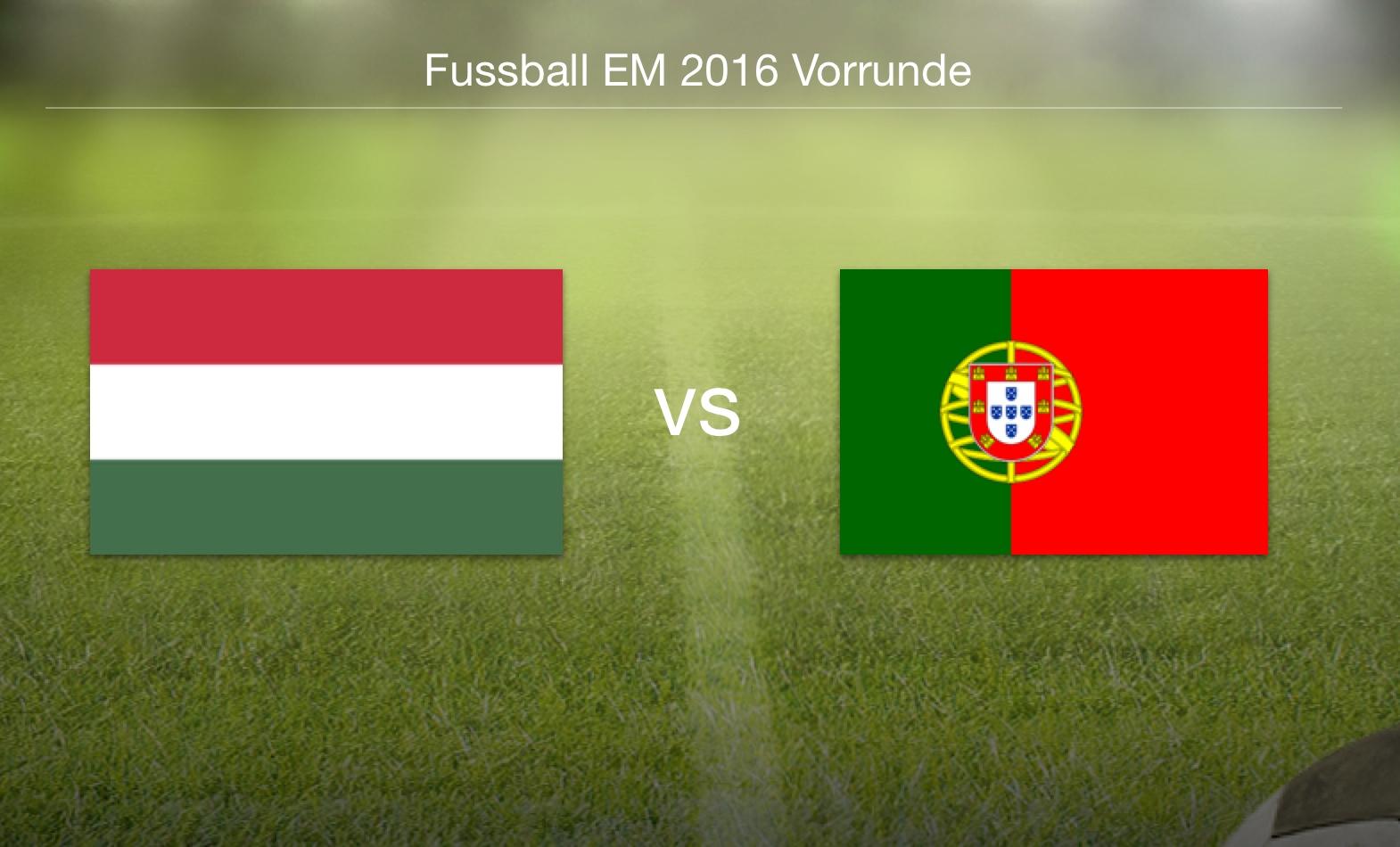 EM 2016 - Ungarn gegen Portugal
