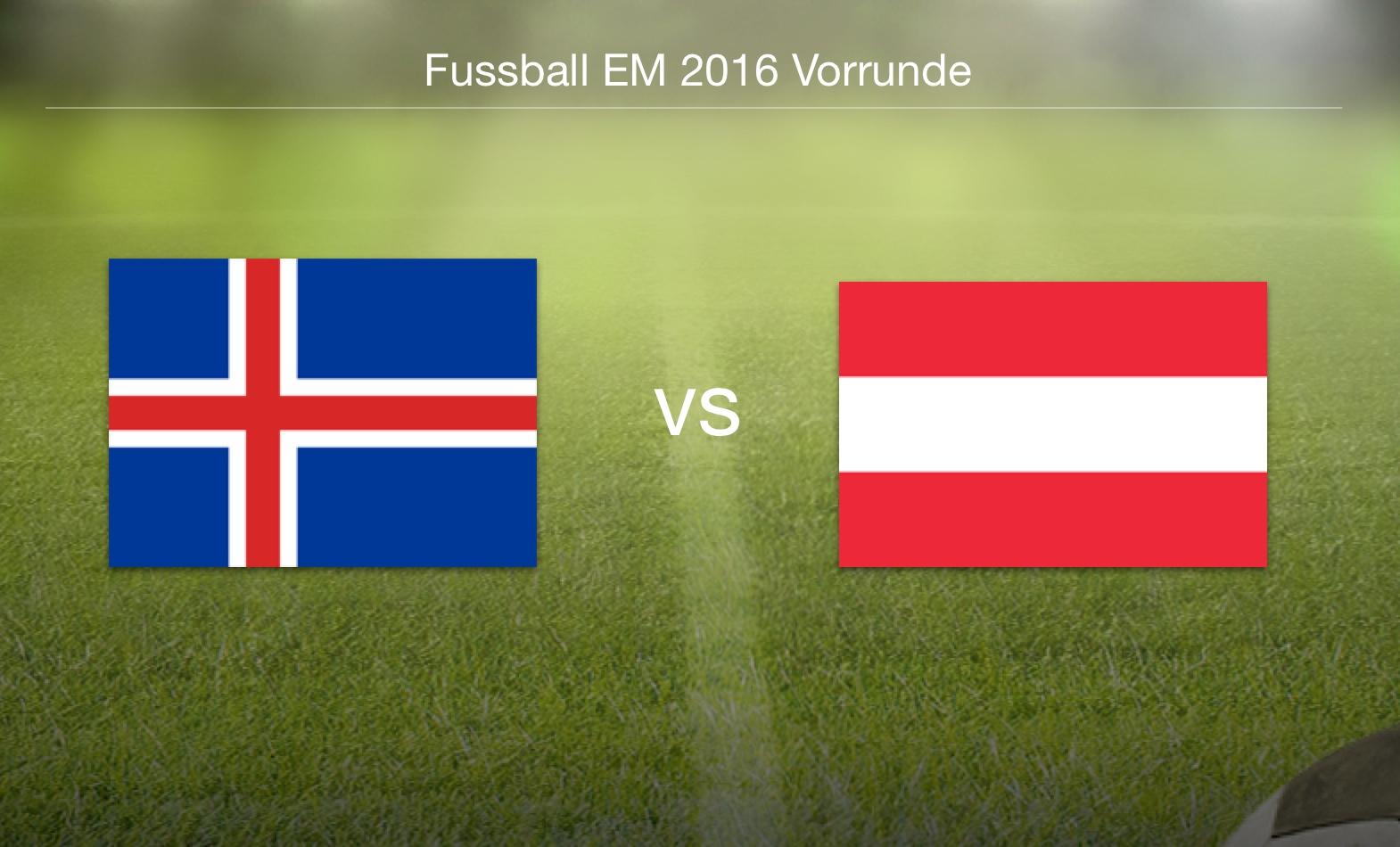 EM 2016 - Island gegen Österreich