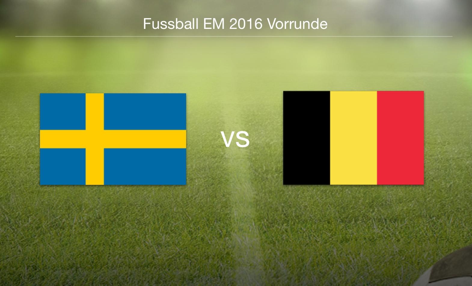 EM 2016 - Schweden gegen Belgien