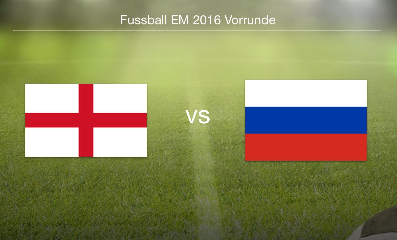 EM 2016 - England gegen Russland