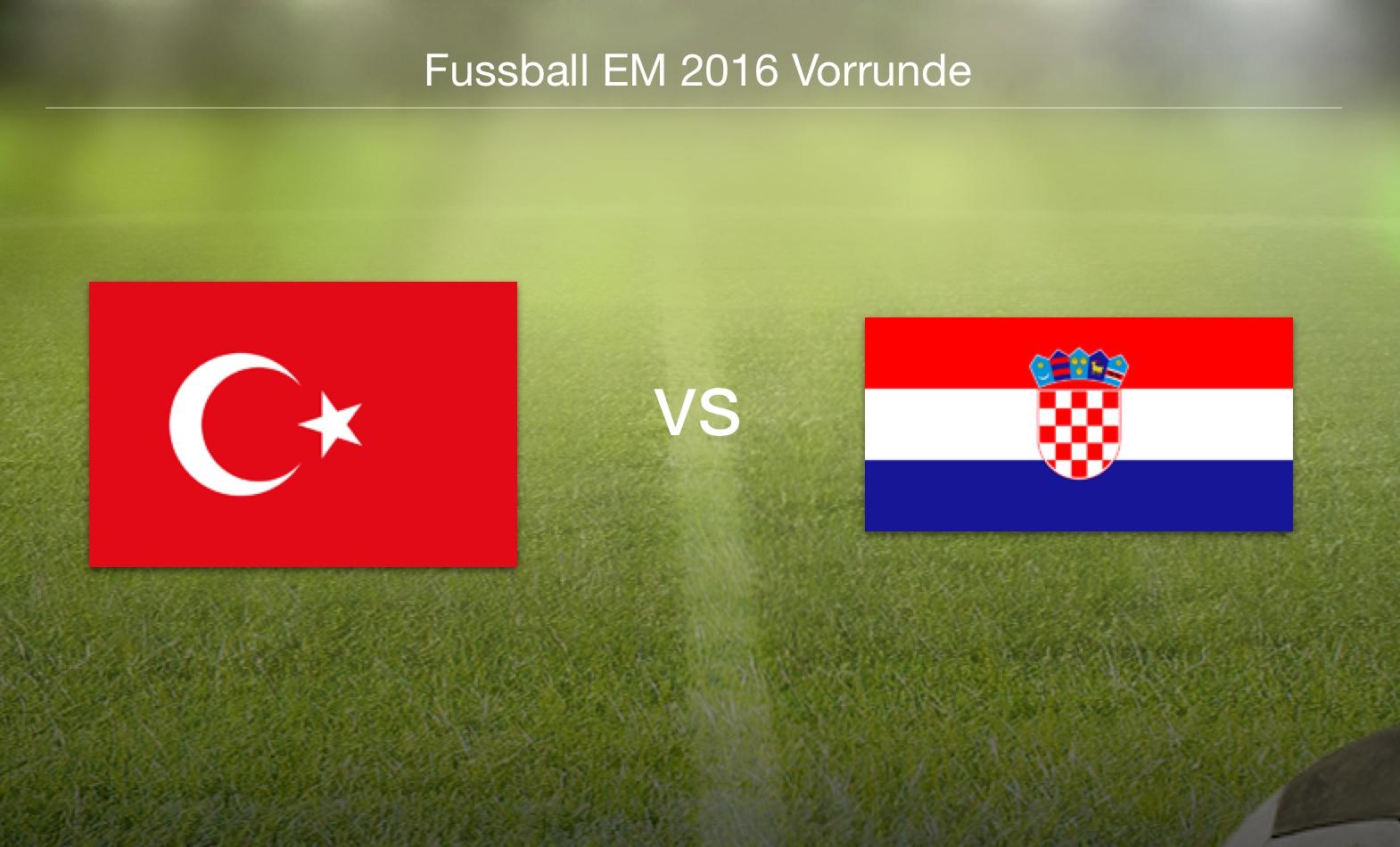 EM 2016 - Türkei gegen Kroatien