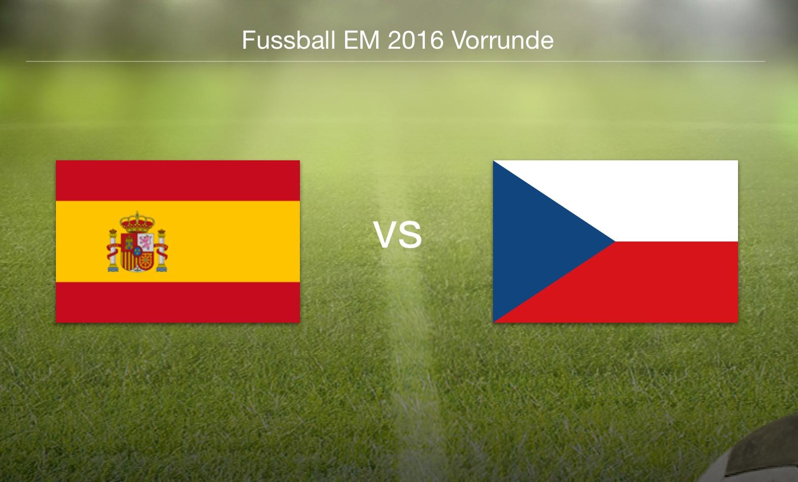 EM 2016 - Spanien gegen Tschechien