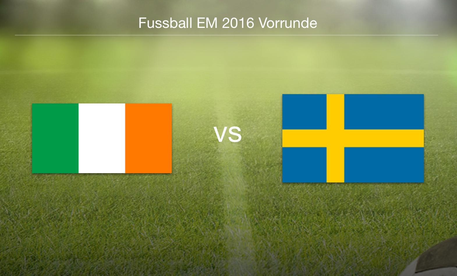 EM 2016 - Irland gegen Schweden