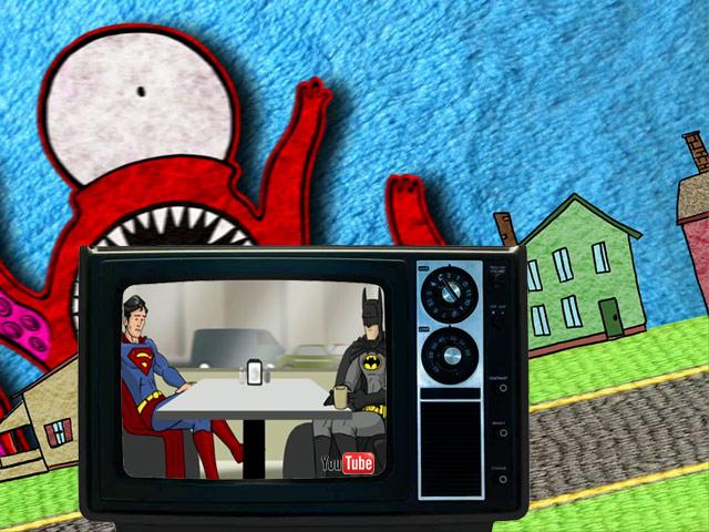 Kinder, Trailer, Superhelden