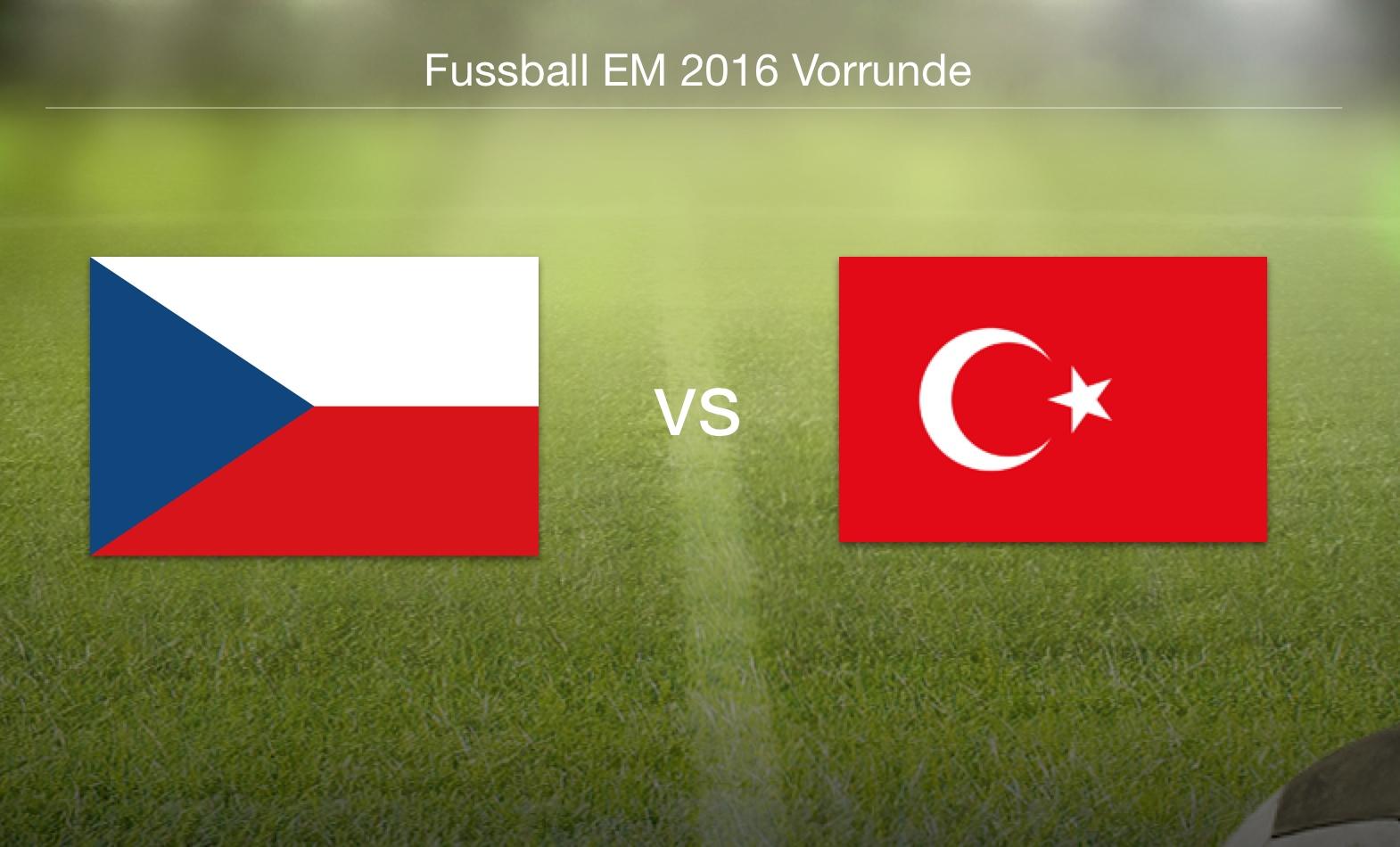 EM 2016 - Tschechien gegen Türkei