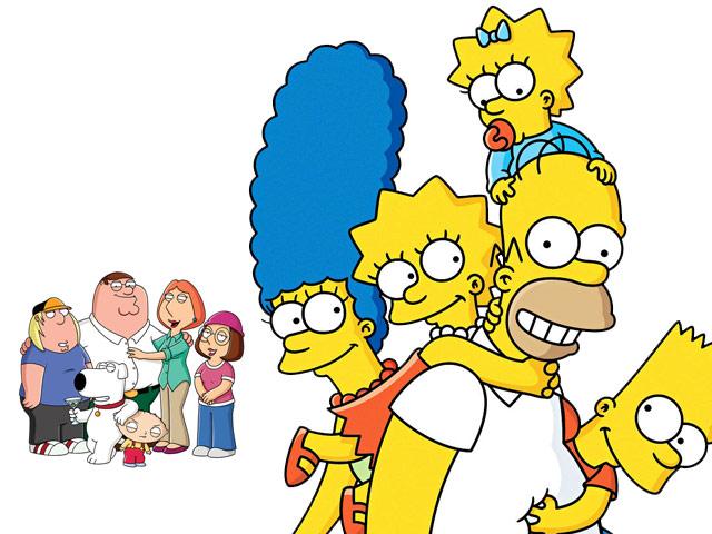 Family Guy besucht die Simpsons