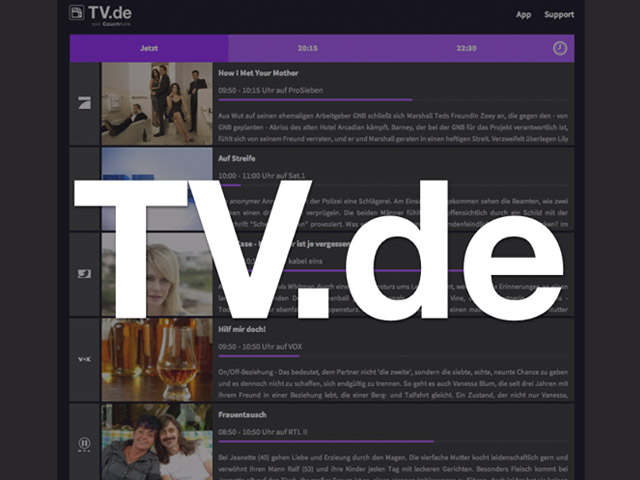 Neues Programmportal auf TV.de