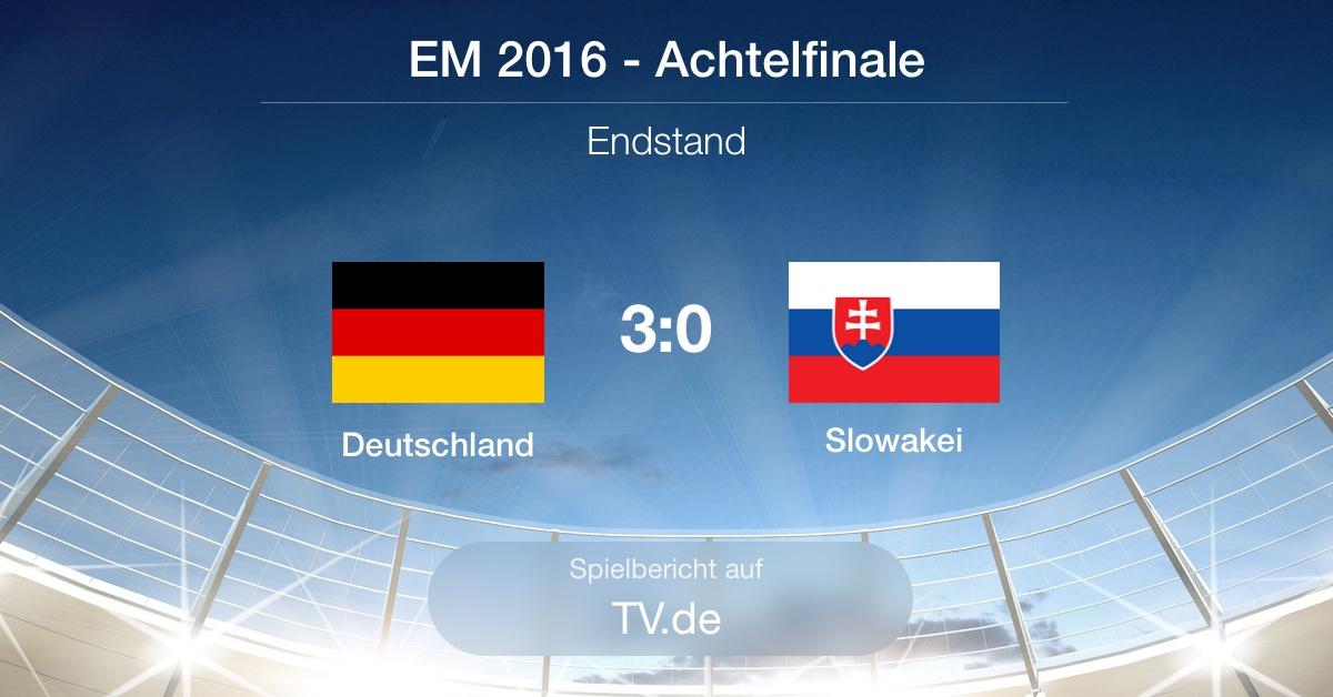 Spielbericht Achtelfinale: Deutschland gg Slowakei (3:0)