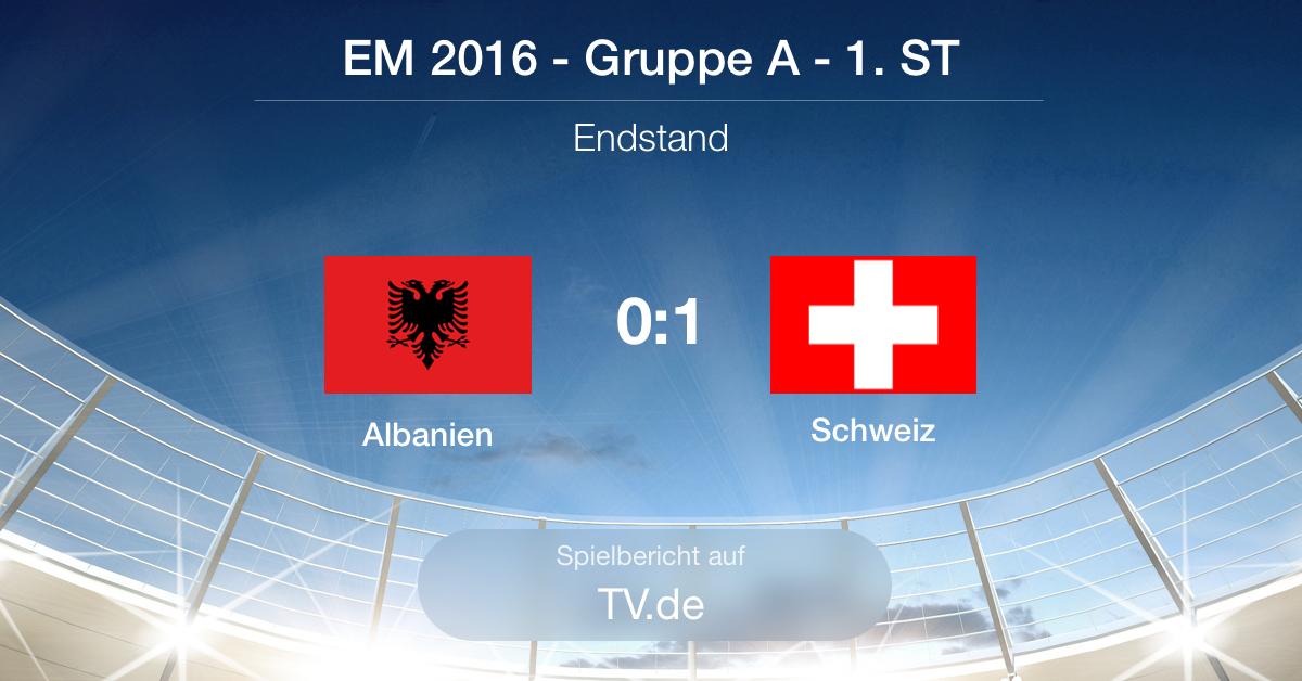 Spielbericht: Albanien gg. Schweiz (0:1)