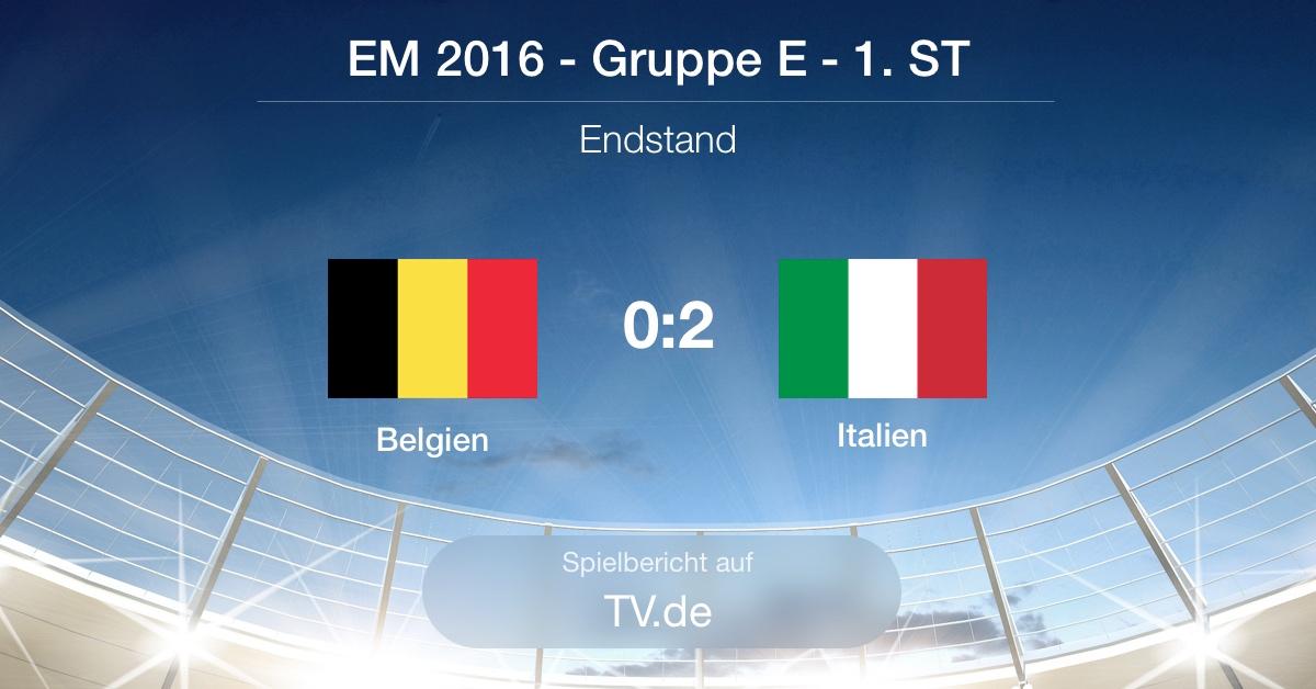 Spielbericht: Belgien gg Italien (0:2)