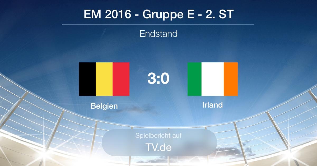 Spielbericht: Belgien - Irland (3:0)