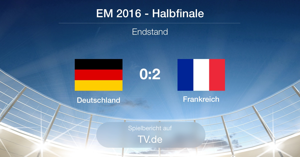 Spielbericht: Deutschland gg. Frankreich (0:2)