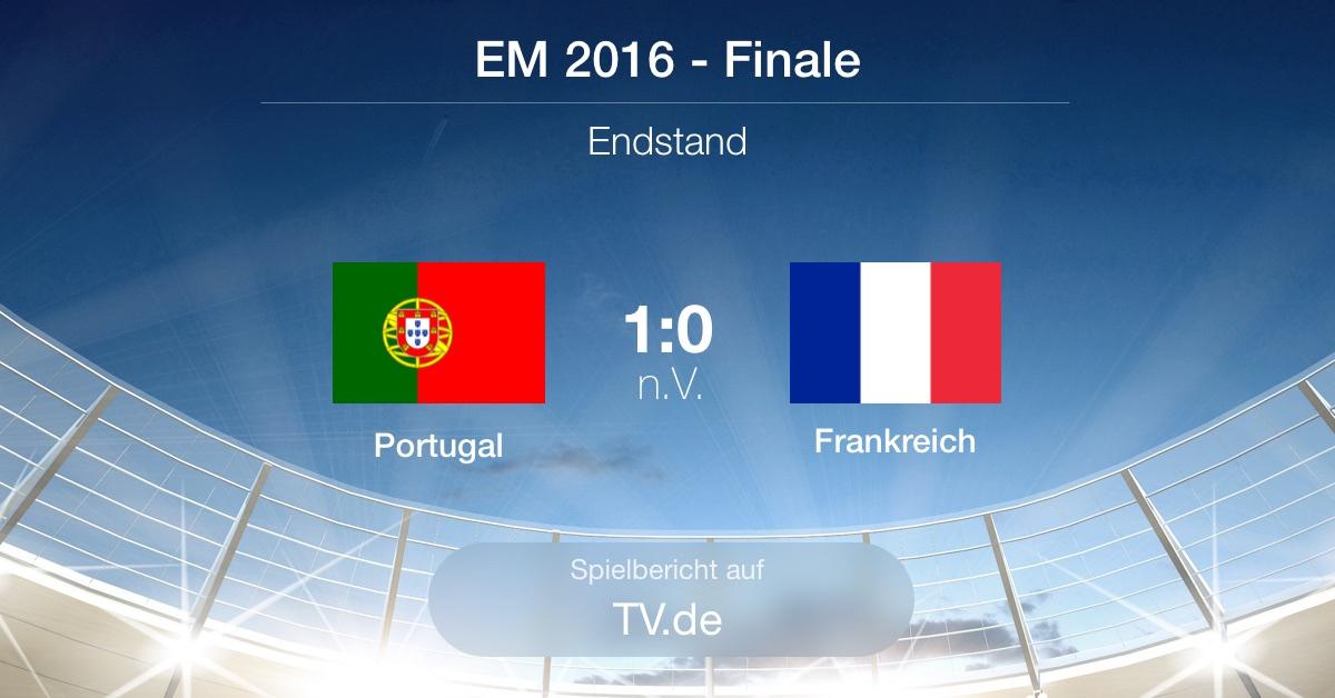 Spielbericht: EM-Finale - Portugal gg. Frankreich (1:0)