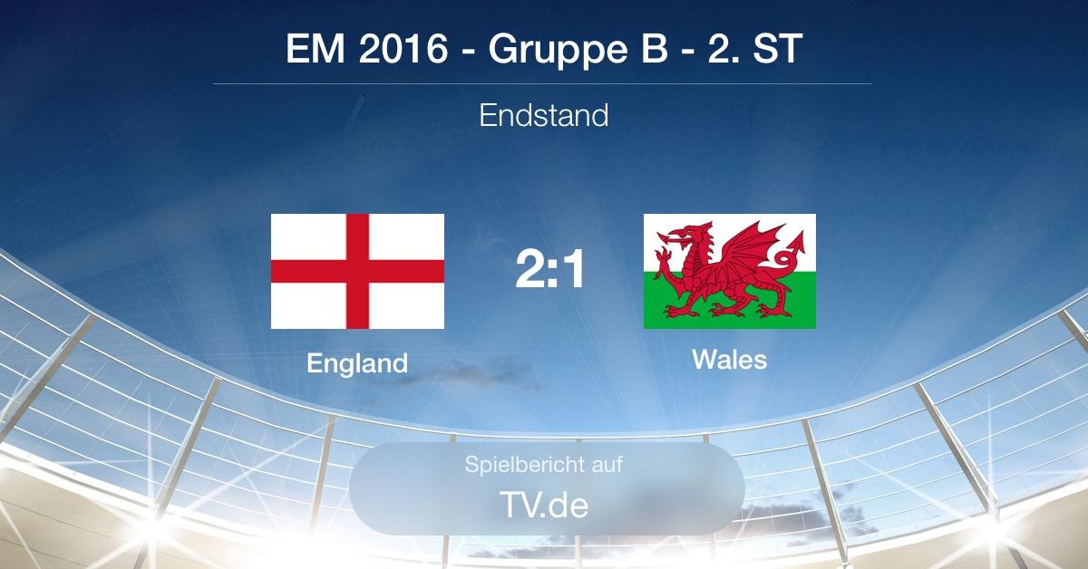 Spielbericht: England gg. Wales (2:1)