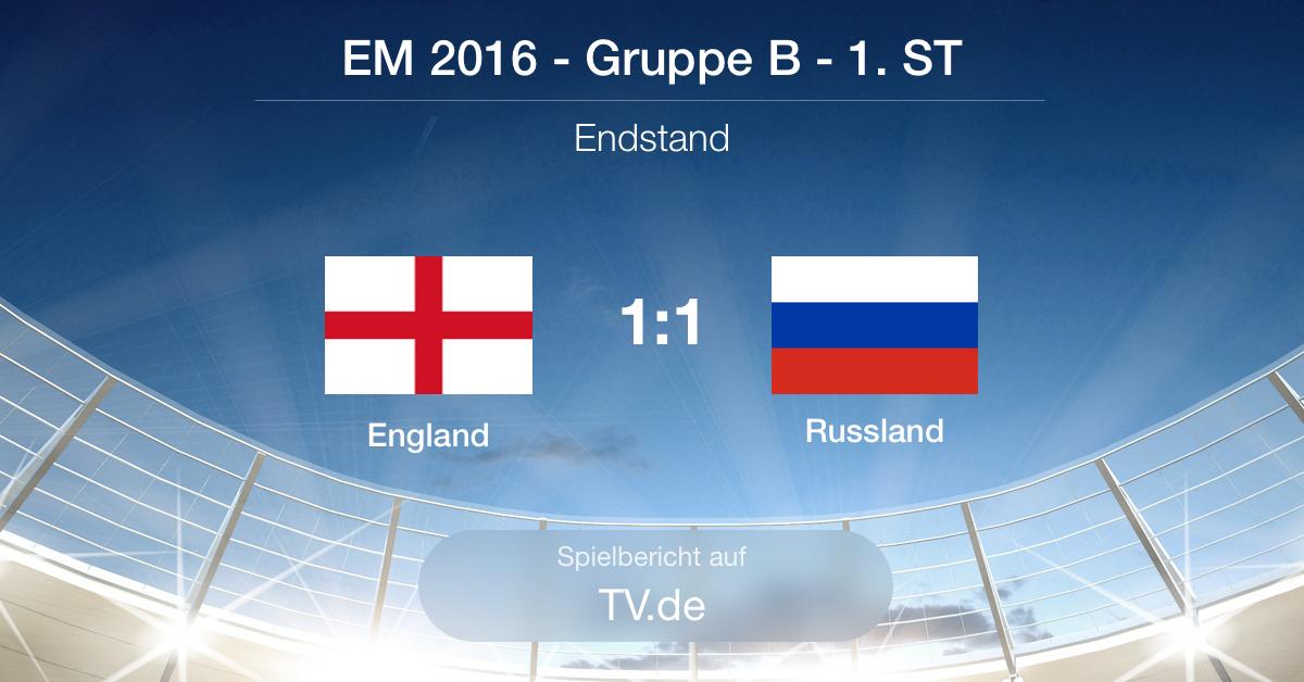 Spielbericht: England - Russland (1:1)