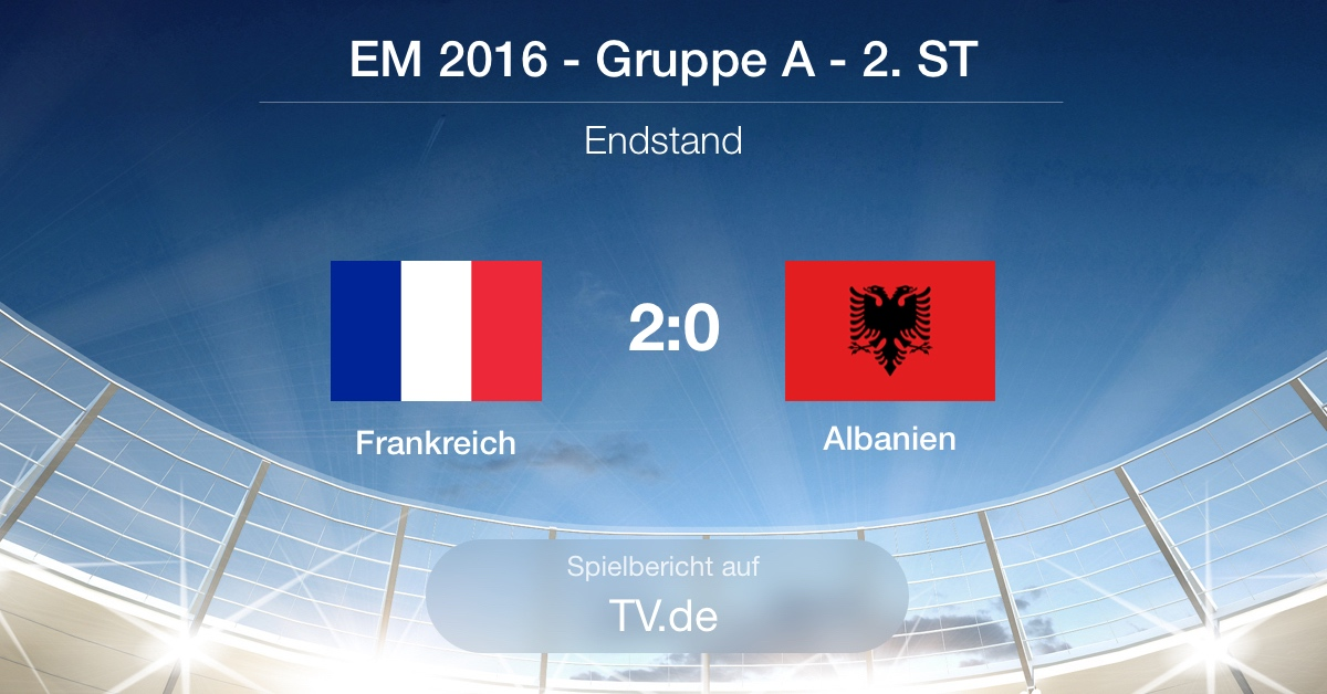 Spielbericht Frankreich gg. Albanien