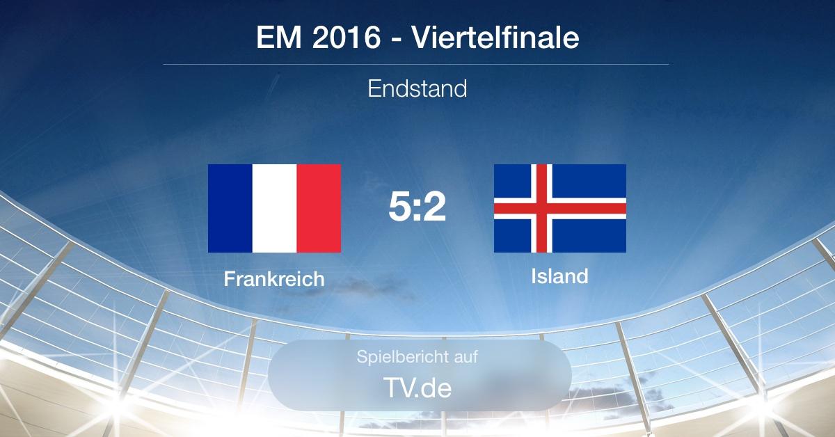 Spielbericht: Frankreich gg. Island (5:2)