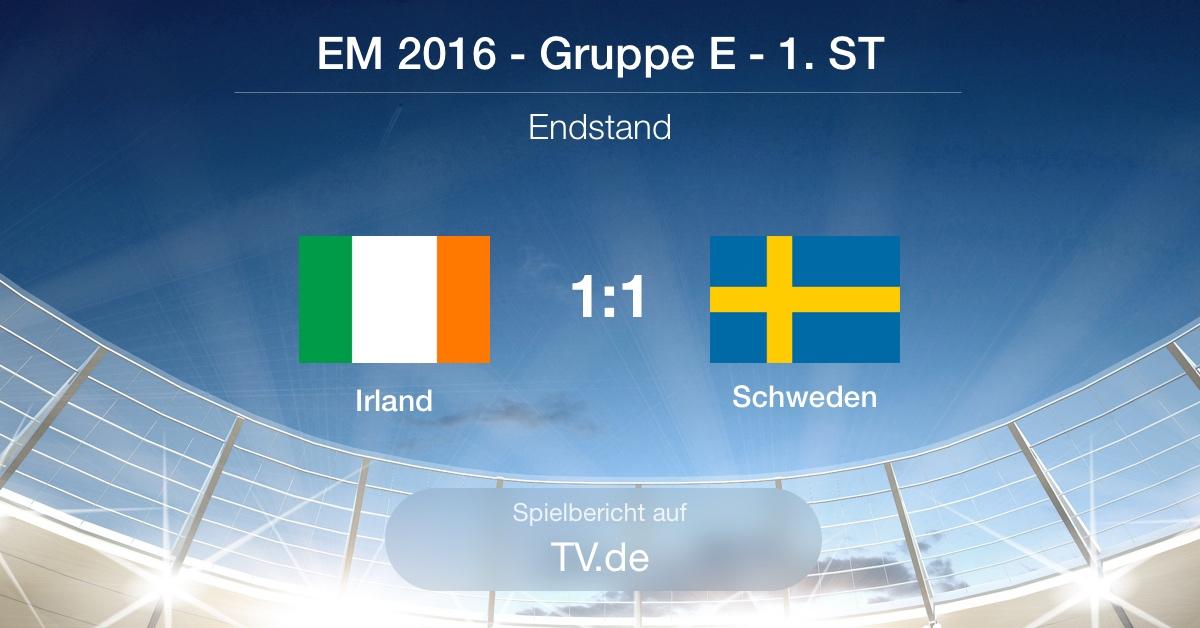 Spielbericht: Irland gg. Schweden (1:1)