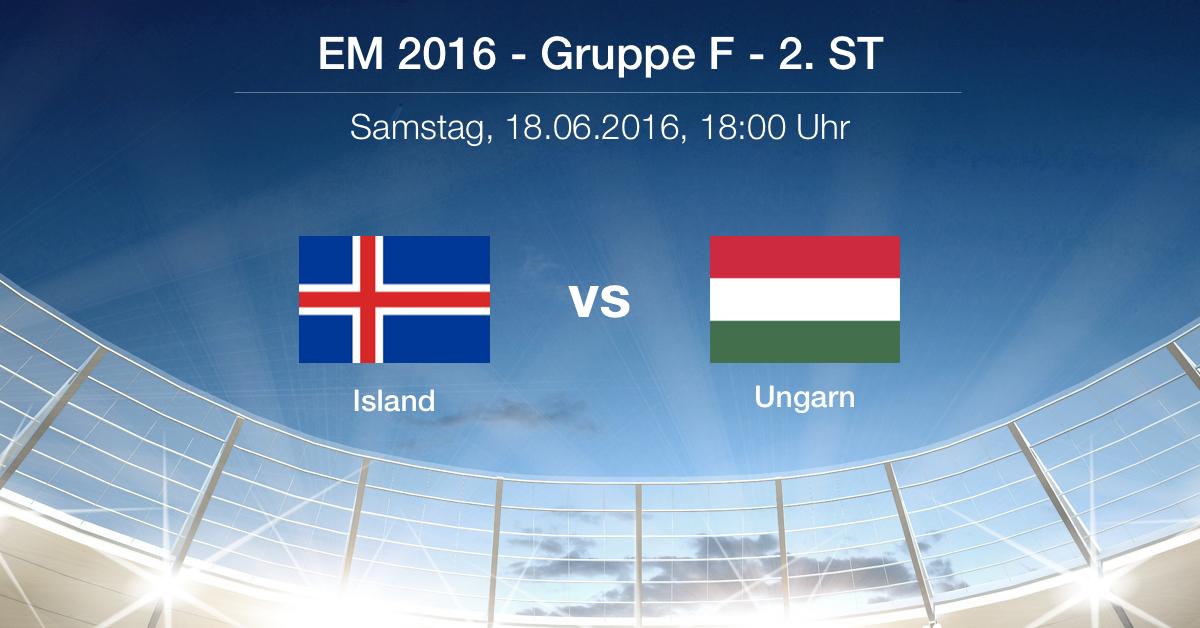 Spielbericht: Island gg. Ungarn (1:1)