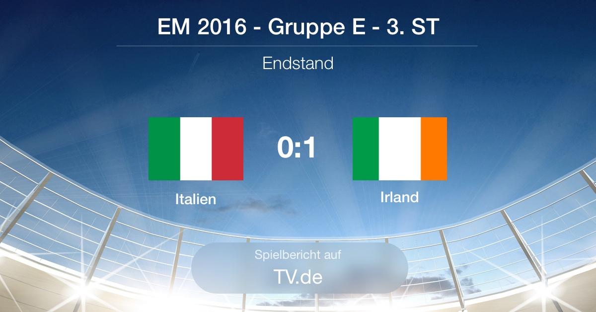 Spielbericht: Italien gg. Irland (0:1)