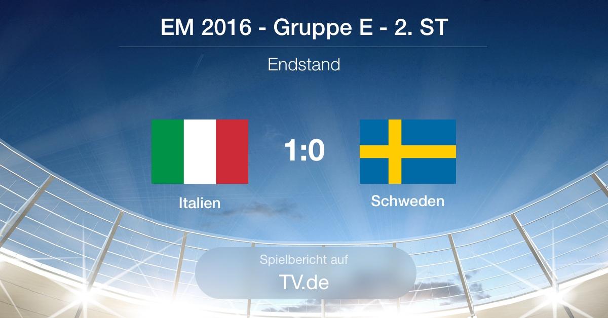 Spielbericht: Italien gg. Schweden (1:0)