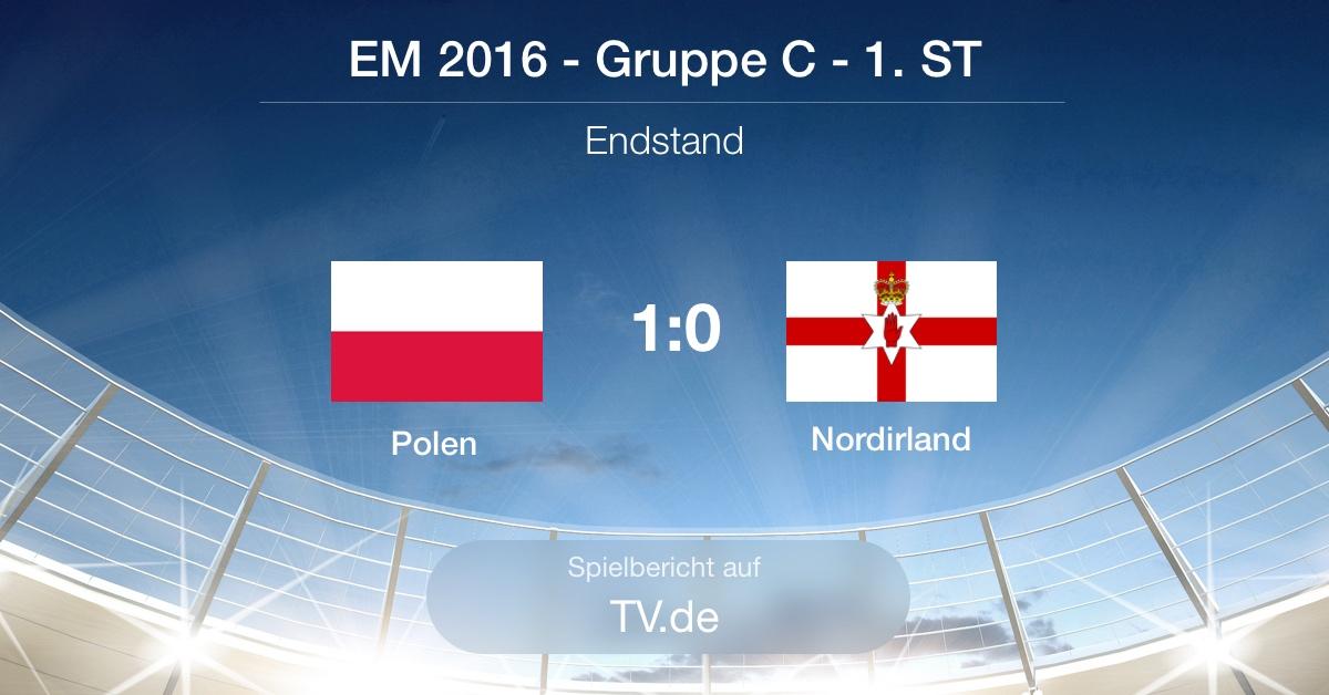 Spielbericht: Polen gg Nordirland (1:0)
