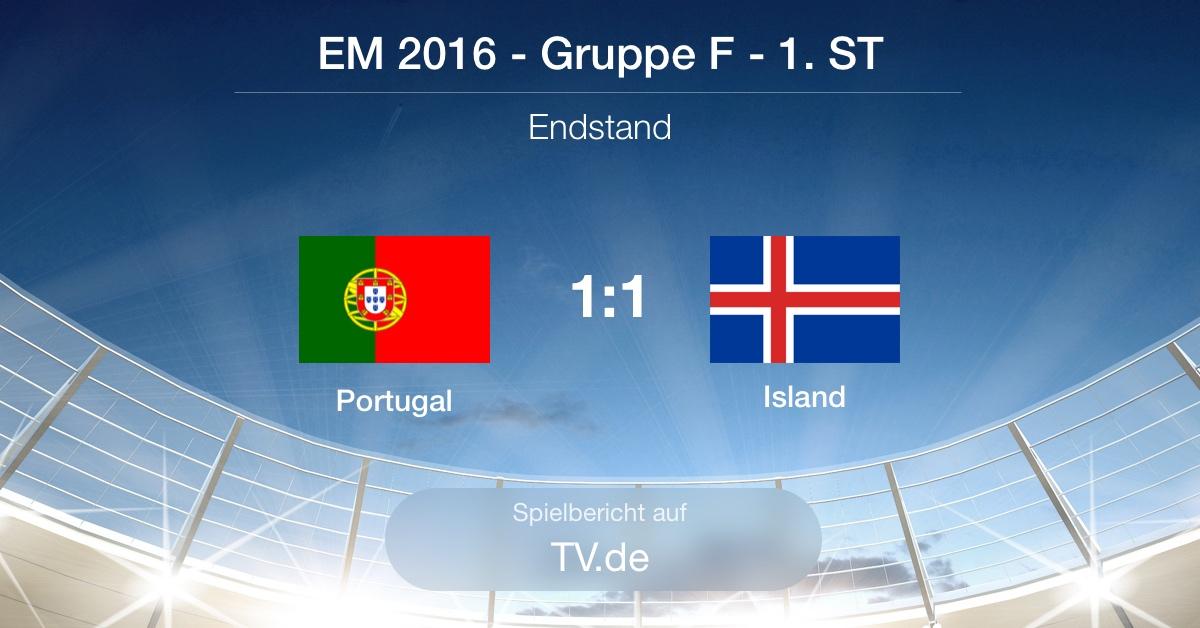 Spielbericht: Portugal gg. Island (1:1)