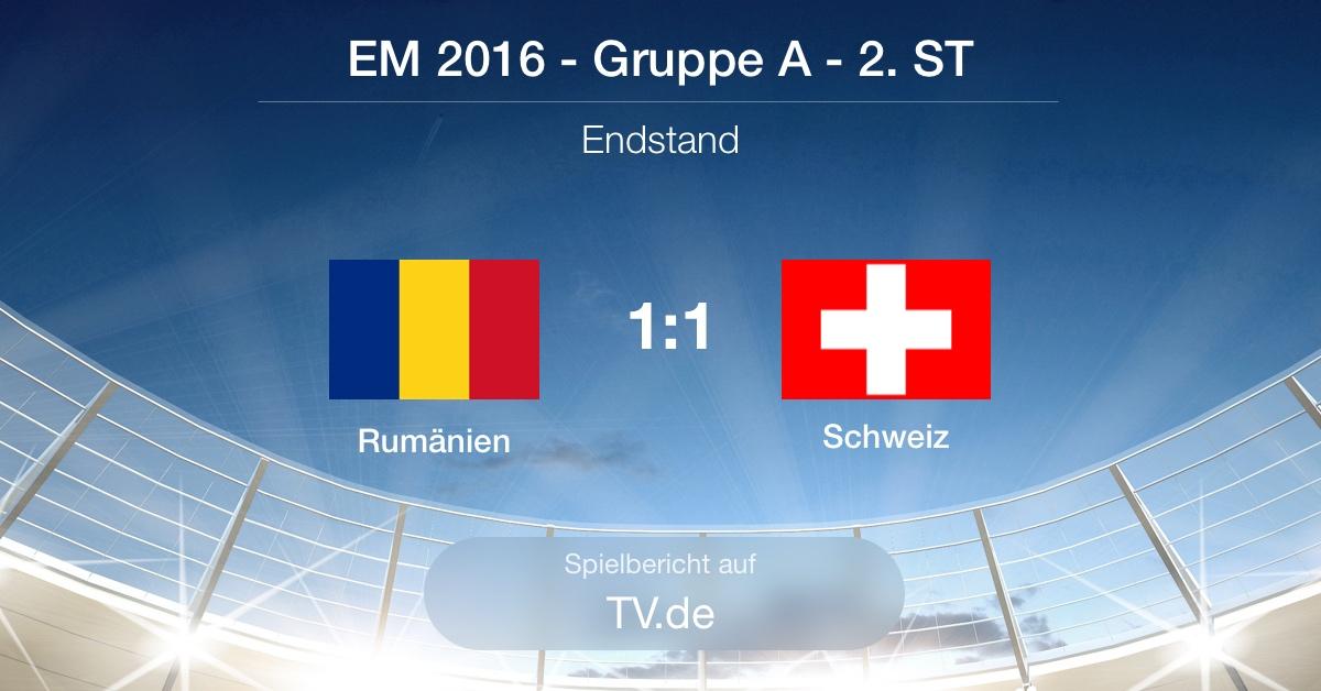 Spielbericht: Rumänien - Schweiz (1:1)