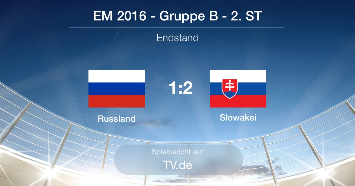 Spielbericht: Russland gg Slowakei (1:2)