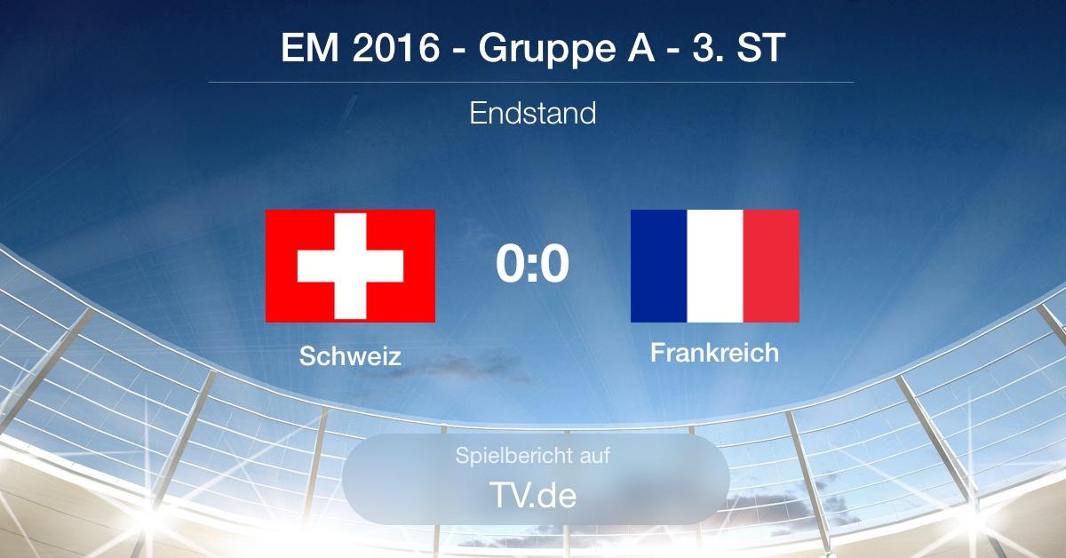 Spielbericht: Schweiz - Frankreich