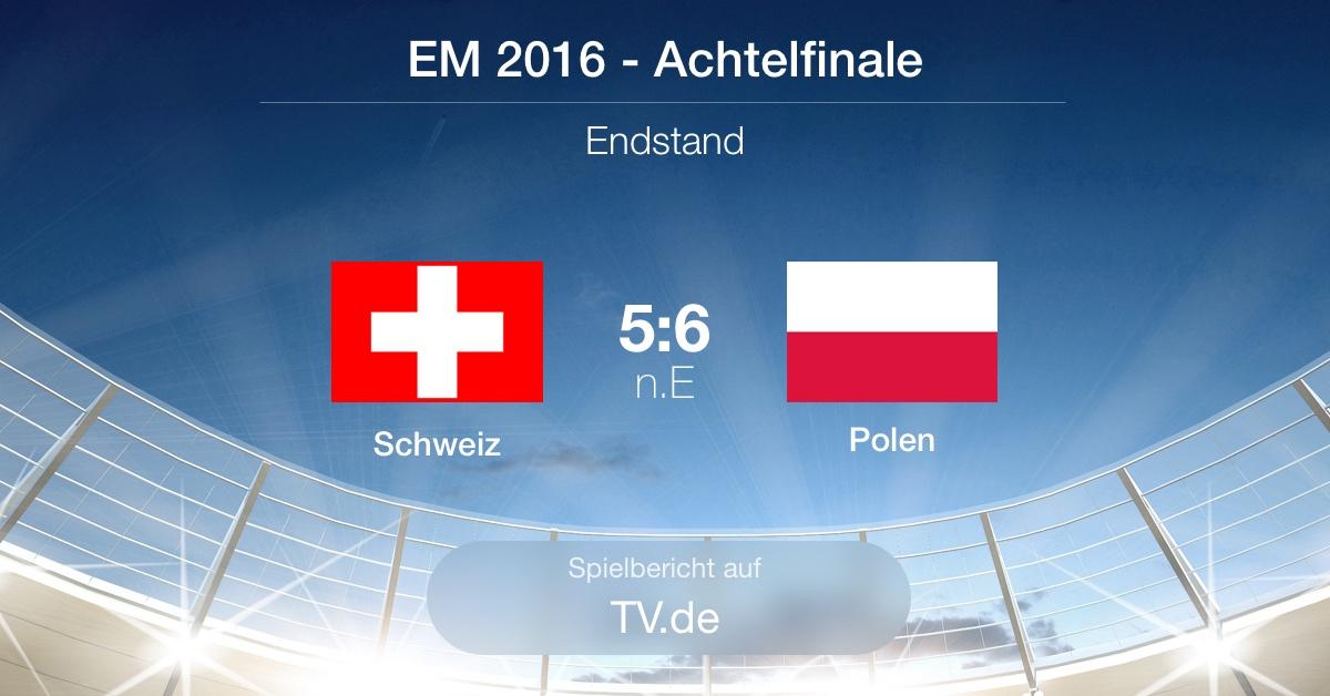 Spielbericht: Schweiz gg. Polen (1:1 n.V. / 5:6 n.E.)