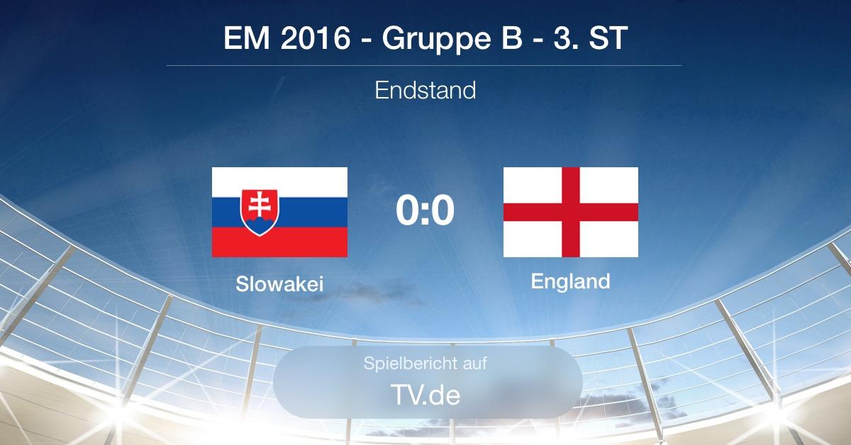 Spielbericht - Slowakei gg. England (0:0)